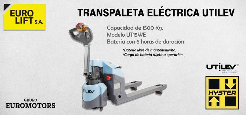 Transpaleta Stocka Eléctrica UTILEV (HYSTER) 1500 Kg 0