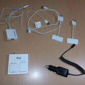 Cables para iPad Y Cargador Carro iPhone