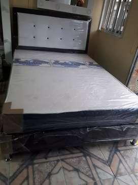 Oferta  ¡ base colchón semi ortopédico y espaldar !