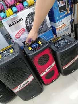 Cabinas de sonido con luces led