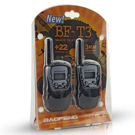 Pack 2 Mini radio Walkie talkie BF-T3