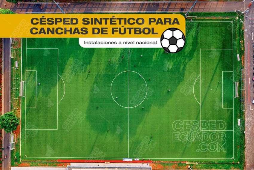 Césped Artificial Sintético Instalación para canchas de fútbol