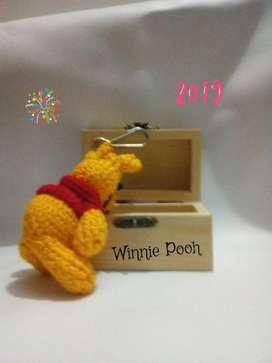 Llavero Artesanal winnie Pooh