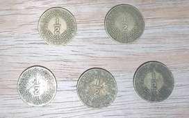 Vendo monedas de medio sol de oro 1935 -1941 - 1947 - 1948 - 1949