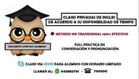 CLASES PRIVADAS DE INGLES EN AREQUIPA