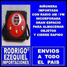 RIÑONERA NUEVA IMPORTADA CON RADIO AM/FM INCORPORADA