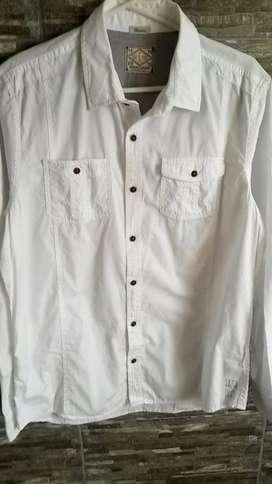 Camisa Americanino Blanca Nueva Original Importada Talla L