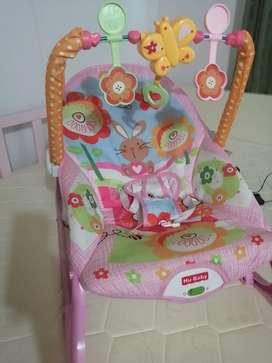 Silla mesedora y vibradora + cojin sillin para bebés