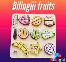 """Juguete """"Bilingui"""" para el aprendizaje de las lamguas Ingles y Español"""