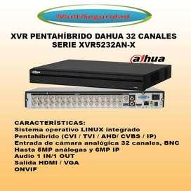 XVR 32CH DAHUA PENTAHÍBRIDO COMPATIBLE CON HIKVISION ONVIF
