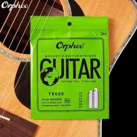 Encordado Orphee TX620p 99 Cobre Para Guitarra Acustica .01047