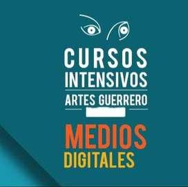 Clases, Medios digitales, diseño, música, artes visuales, Bogotá