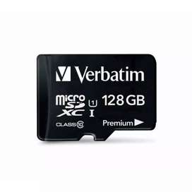 MEMORIA MICRO SD 128GB VERBATIM PREMIUM XC I U1 ORIGINAL CAPITAL FEDERAL