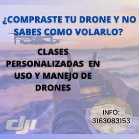 Clases en manejo de drone
