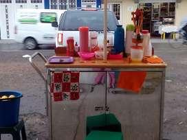 Carro de jugos de naranja