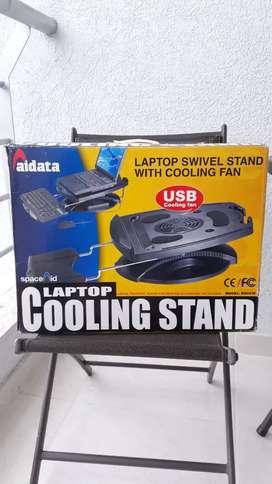 Base refrigerante para laptop con soporte para teclado