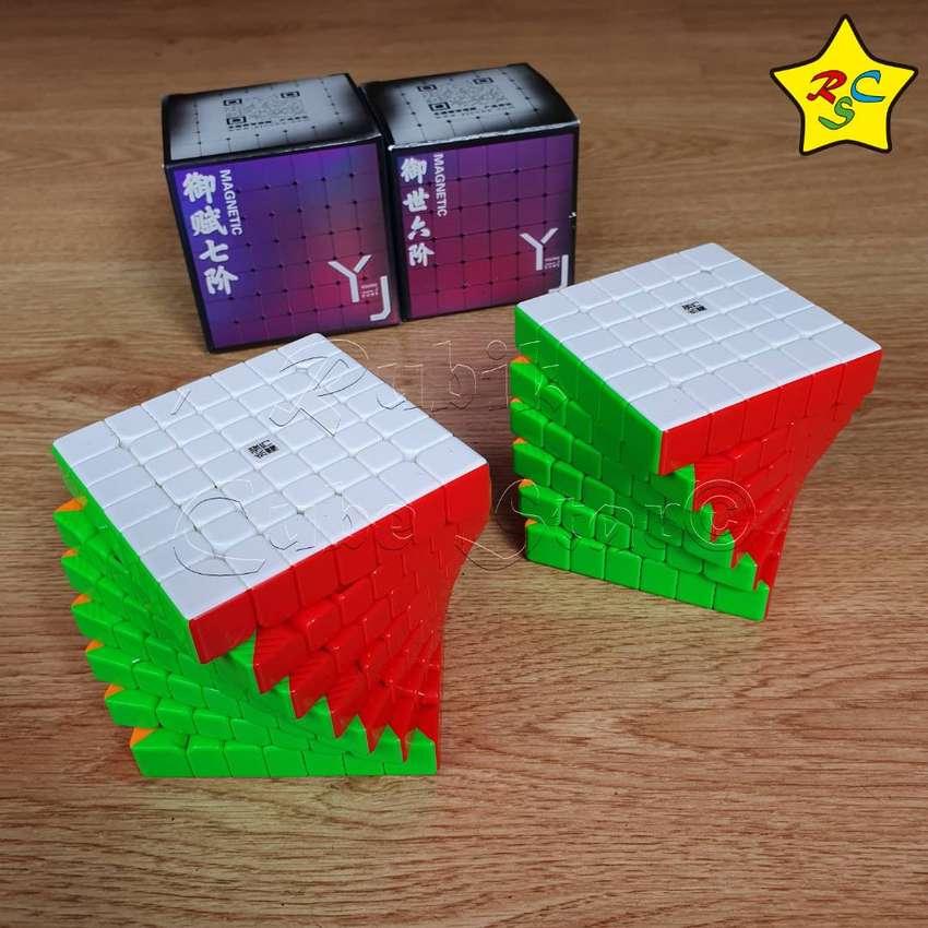 MMarca: YJ Versión: Pack x2 Cubos Magnéticos Color: Stickerless Magnético: Si  Incluye: - 1 Yushi V2 M 6x6 - 1 Yufu V2 M 0