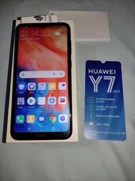 Huawei y7 2019, 3 Ram, 32 gigas, HD, con servicio de Google.