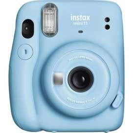 Fujifilm Cámara Instax Mini 11 Fuji Original Instantánea Color Azul Cielo (Sky Blue) Última Versión Instax mini