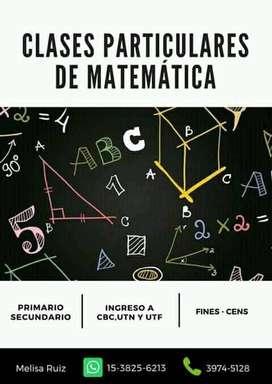 Clases particulares virtuales de matemática