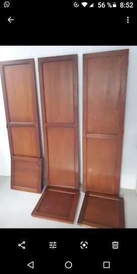 Puertas en madera tres unidades de 50 por 190 cms para closed interesados. Hat
