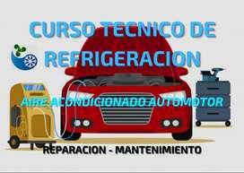 Curso técnico de refrigeracion del automotor.
