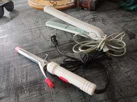 Kit Plancha y rizadora Para el cabello economicas