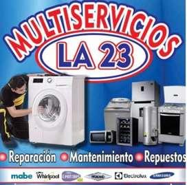 Servicio técnico especializado en lavadoras y neveras.