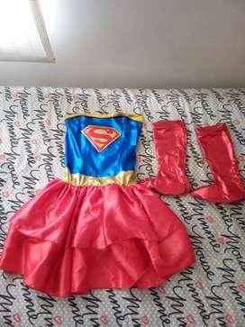 Disfraz super girl estraple