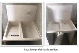 Lavadero prefabricado en fibra