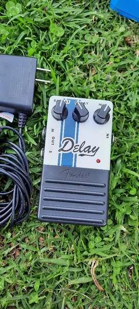 Pedal análogo delay original Fender, como nuevo