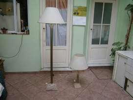 lampara de pie con base de marmol nueva