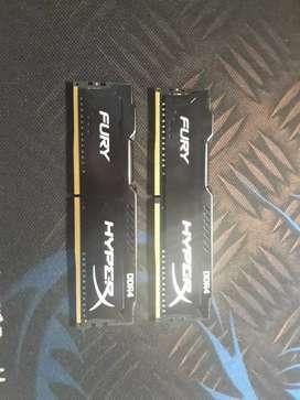 Memoria Ram Hyperx Modelo Fury 4 GB 2666 MHz.