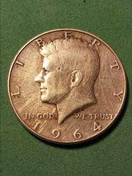 #Moneda Half Dollar kennedy 1964 plata
