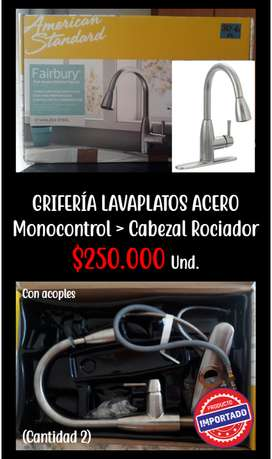 Grifería Lavaplatos Monocontrol
