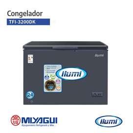 Congeladora dual tina de acero Ilumi TFI-3200DK de 320Lts. NUEVA conservadora horizontal