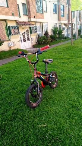 """Bicicleta GW rin 12"""" negra/roja para niños desde 3 años"""