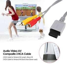 Cable de 3 RCA para Nintend Wii de alta calidad