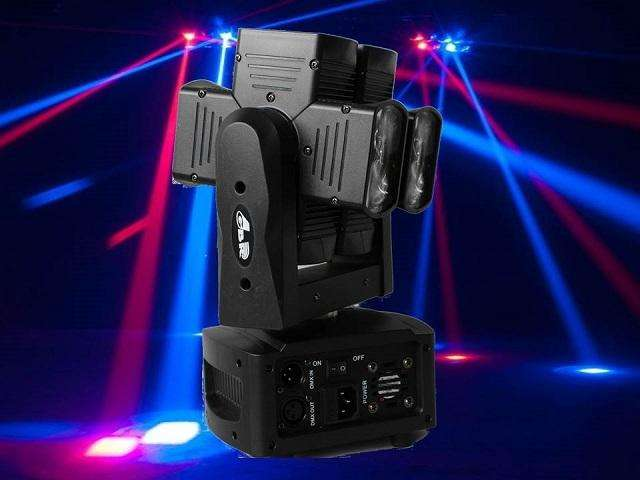 CABEZAL MÓVIL GBR BEAM 8 LED CREE 10W RGBW 360 DMX 0
