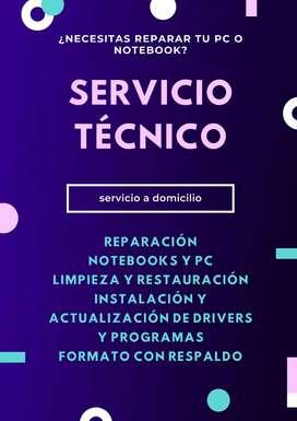 Servicio técnico de PC Notebooks