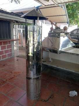 CAMPANA EXTRACTOR EN ACERO INOXIDABLE PARA BBQ Y/O PARRILLA