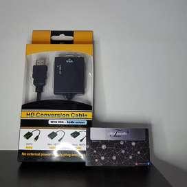 Cable Convertidor De HDMI A VGA Con Audio - Pc Laptop Xbox PS Tv Monitor