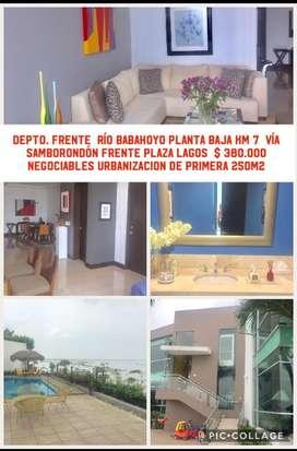 SAMBORONDON RIO BABAHOYO DEPARTAMENTO EN VENTA