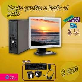 Tu opción ideal para computadora básica Core 2 duo $220Tambien disponibles en Core i3 $270, i5 $325, i7 $355