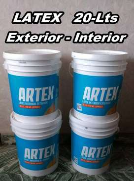 LATEX 20-LTS,  EXTERIOR - INTERIOR , B/CALIDAD !!! ARTEX DE POLACRIN ,