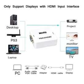 Convertidor de VGA a HDMI + Audio - PC y Portátiles.