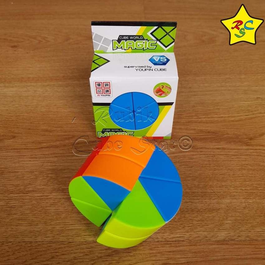 Cubo Rubik Cilindro Tarta Queso Magic Cube Stickerless