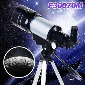Telescopio Astronomico Lunar Tripode Aficionado 300x Aumento Regalo