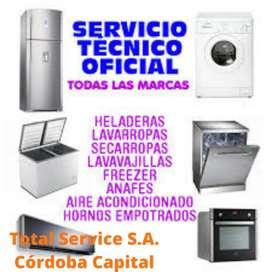Servicio Técnico de reparación de Heladeras Frezzer's y Lavarropas Automáticos a domicilio en Ciudad de Córdoba