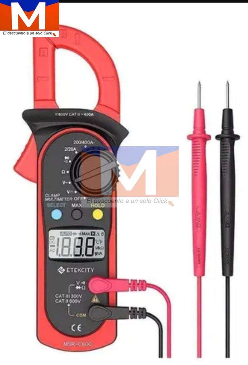 Multimetro Digital Polimetro Tester Pinza Amperimetrica.